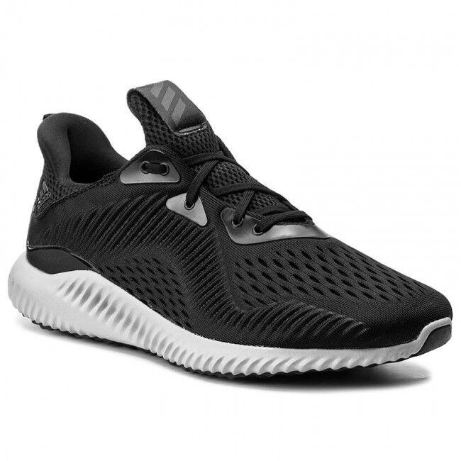 Adidas Men's AlphaBounce EM Black White Grey BY4264 Sz 8 - 13