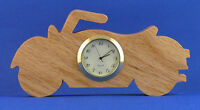 Motorcycle Mini Clock - Hand Cut W/ Choice Of Insert
