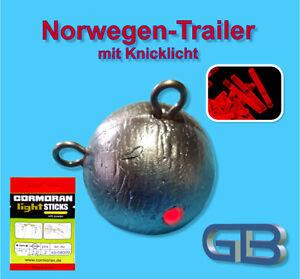 Norwegen-Trailer-mit-Knicklicht-Rot-4-5-x-37-mm-Jigkopf-240g-350g