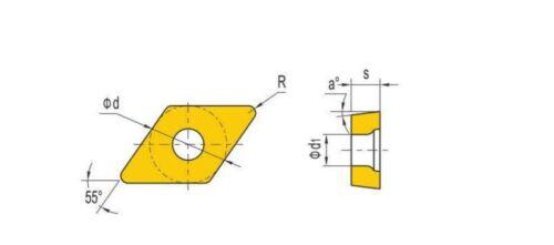 DCGT32.52//DCGT11T308-AL Turning Inserts Grade PP3110 10 pcs