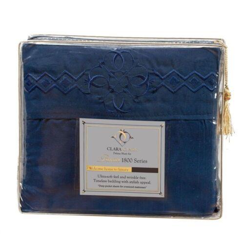Clara Clark Logo Pillowcases All Sizes /& 12 Colors 1800 SERIES BED SHEET SET