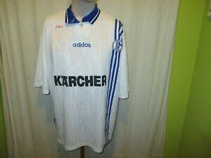 FC-Schalke-04-Original-Adidas-UEFA-CUP-Sieger-Trikot-1997-034-KARCHER-034-Gr-XL-TOP