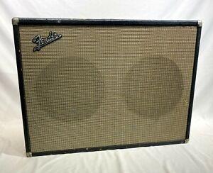Vintage-1966-Fender-2x12-Guitar-Amplifier-Speaker-Cabinet-Original-Jensen-Spks