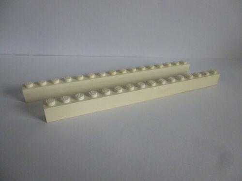 2 x LEGO® 2465 Basis Steine 1x16 in weiss wie auf dem Foto.