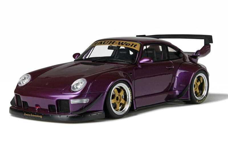 GT Spirit 1/18 Porsche RWB 911 (993) GT727 púrpura Rauh Welt alcanzado.