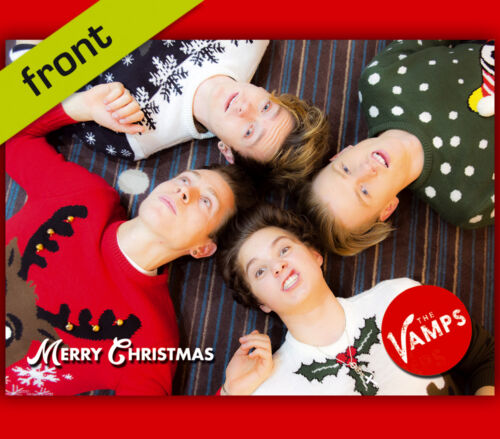 THE VAMPS Signed Reproduction Autograph CHRISTMAS Card