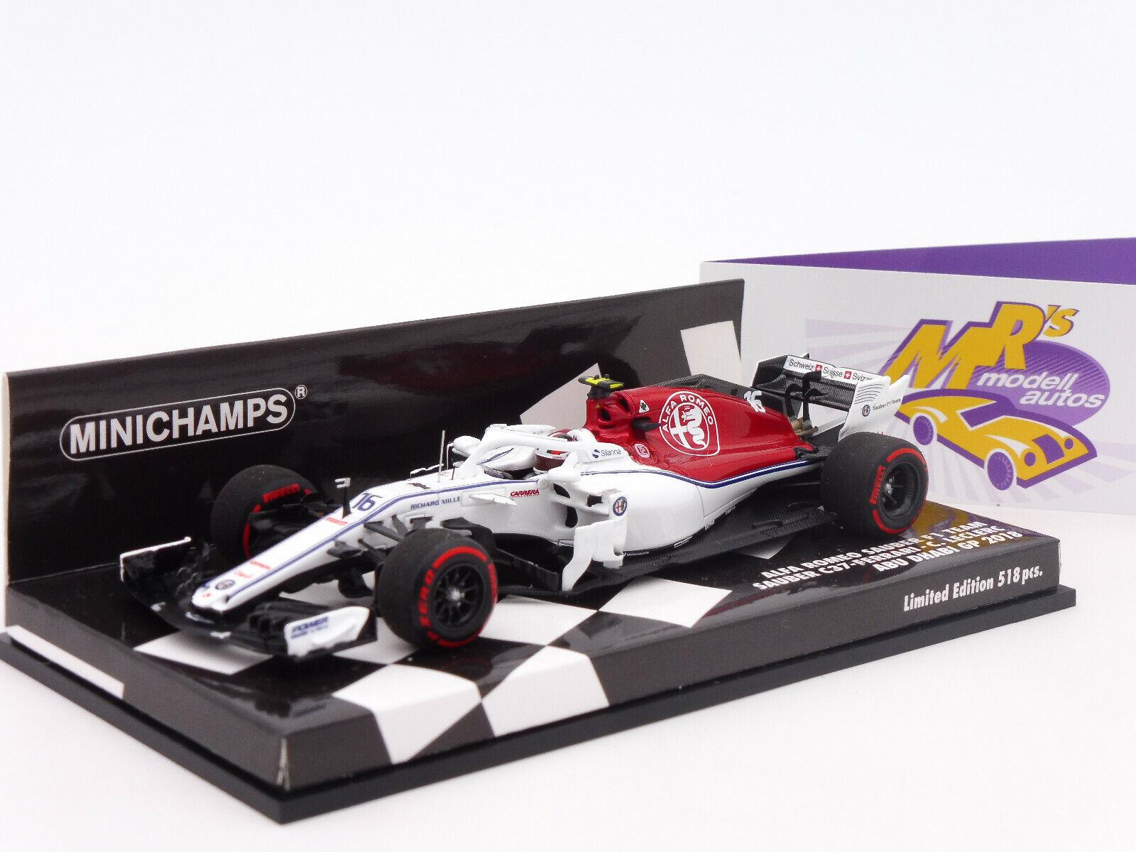 Minichamps 417182116   Alfa Romeo C37-Ferrari F1 2018    C. Leclerc   1 43 NEU