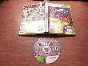 Microsoft-Xbox-360-Disc-Case-No-Manual-Tested-NASCAR-039-15-Victory-Edition