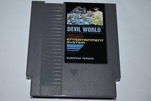 Devil-World-Nintendo-NES-rare-SCN-World-wide-Gratuit-suivi-de-livraison