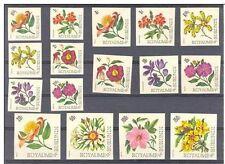 FLOWERS**16 IMPERFORATED stamps-1966-Cat 40€-BURUNDI-NonDentelés-Ongetand-Fleurs