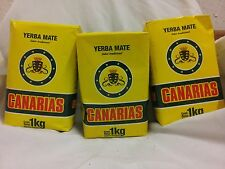 Yerba Mate Canarias 3 pack of 1kg each.