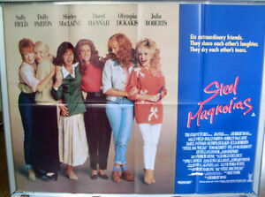 Cinema-Poster-STEEL-MAGNOLIAS-1990-Quad-Shirley-MacLaine-Olympia-Dukakis