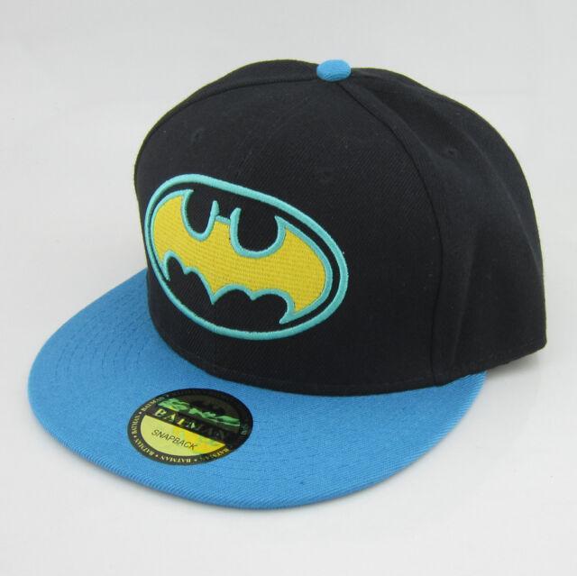 New Blue Black batman hiphop Snapback Adjustable baseball cap flat hat  Cosplay ac06565b6031