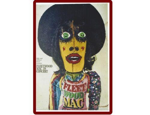 Fleetwood Mac Poster de refrigerador o herramienta caja imán de regalo de tarjeta de inserción