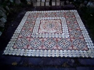 tiles victorian ceramic sand feignies perusson boch metlach boulenger 1900