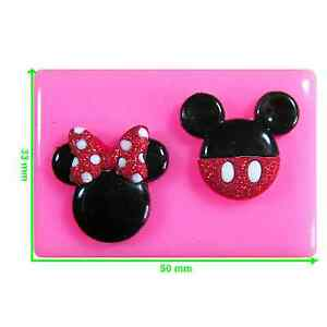 Mickey And Minnie Mouse Face Silicone Mould By Fairie Blessings Ebay
