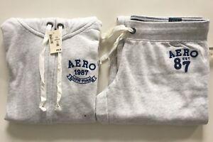 Aeropostale Aero Womens Black Hoodie /&Sweat Pants Matching Set Flare XS S M L XL
