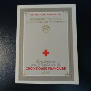 FRANCE-CARNET-CROIX-ROUGE-RED-CROSS-1957-N-2006-NEUF-LUXE-MNH-COTE-90
