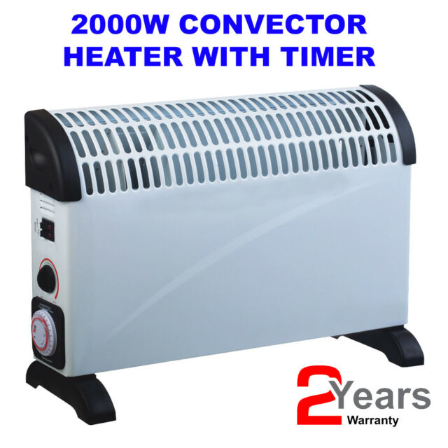 2000 Watt 2KW Convector Electric Heater with Thermostat and 3 Heat Settings with 1 Year Warranty