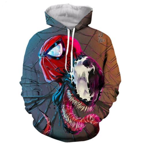 Casual 3D T-Shirt Movie Venom Print Hoodie Women Men long Sleeve Sweatshirt Tops
