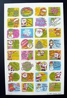 Vintage 1985 Teacher Touch 32 Stickers 1 Sheet Christmas Variety