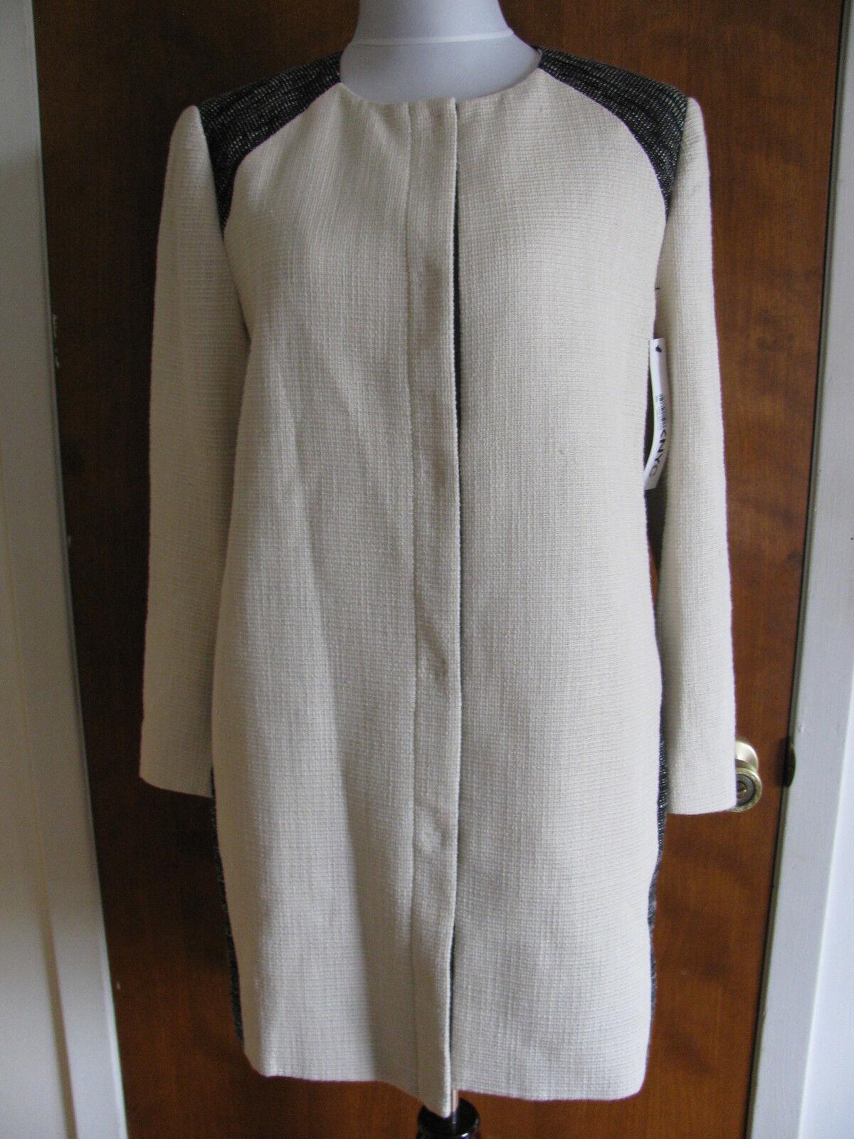 DKNY women's chark stylish lined lightweight coat size Large NWT