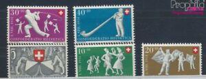 Schweiz-555-559-postfrisch-1951-Pro-Patria-7387780