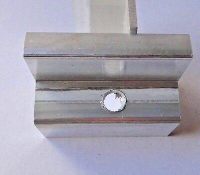 Inventive Endklemme B-ware 50mm Endklemmen Solarmodul Photovoltaik Alu Befestigung Aromatic Flavor Solarenergie