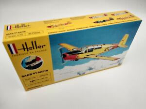 Avion Saab Safir 91 Maquette a monter Heller France echelle 1:72+colle,peinture