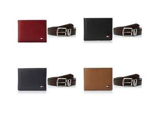 Tommy-Hilfiger-Men-039-s-Leather-Passcase-Wallet-amp-Dress-Belt-Bundle-Gift-Set