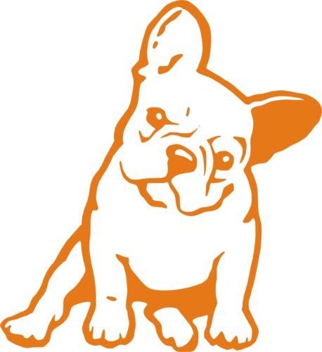 mediatime.sn STICKER VINYL Bulldog Frances AUFKLEBER Wall ...