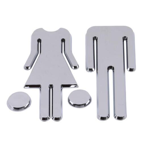 Door Sign MEN /& WOMEN Set Toilet//Loo//Bathroom//Restroom//WC Adhesive Plaque 1SET Z