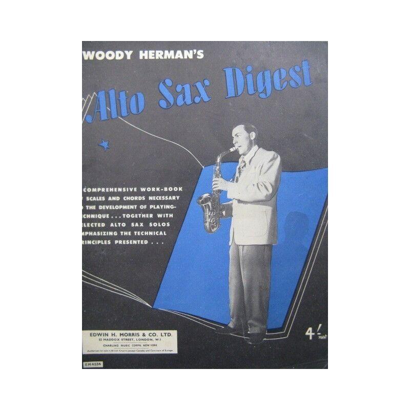 Herman Woody Alt- Sax´ S Digest Saxophon 1946 Trennwand Sheet Music Score