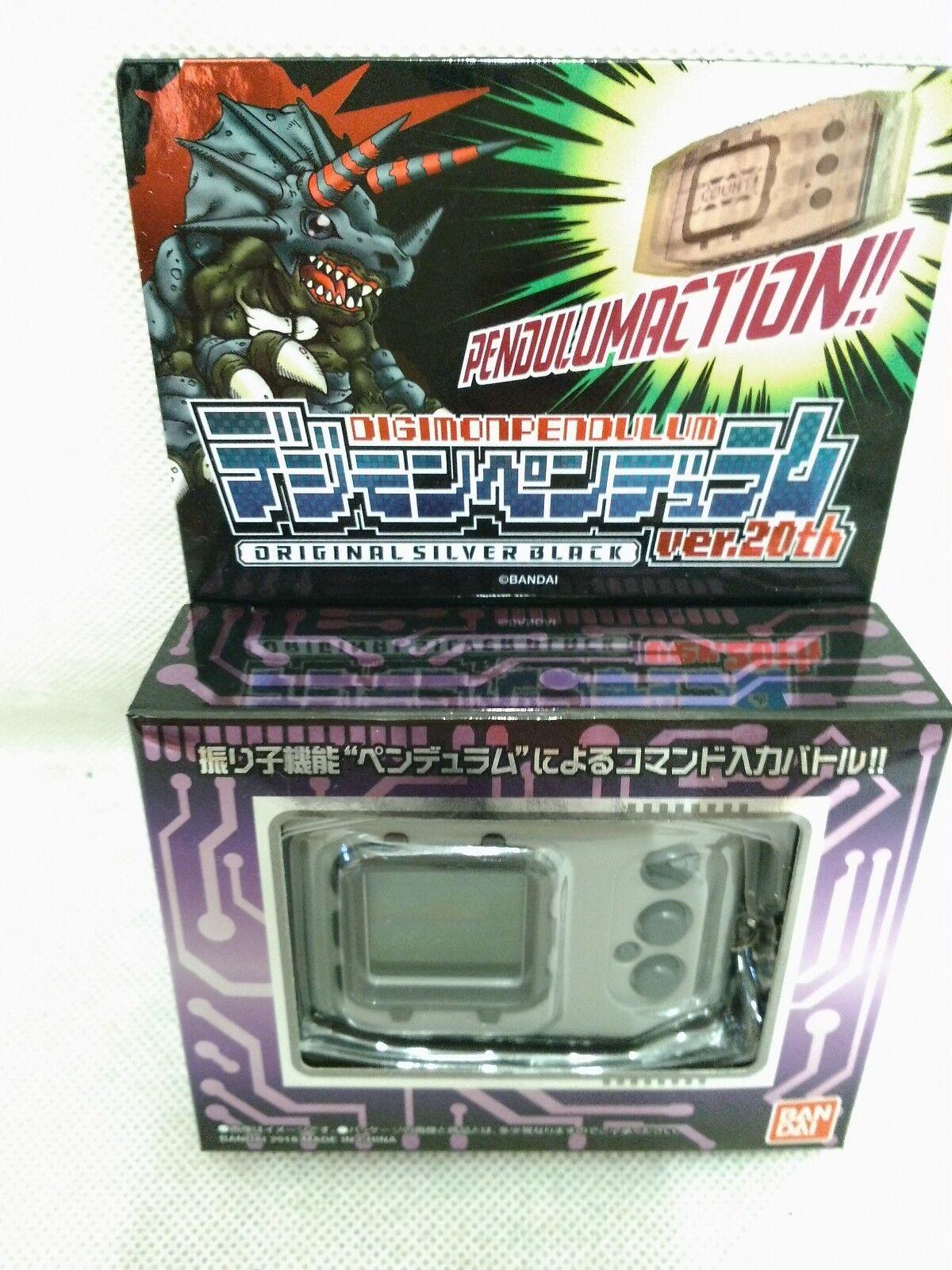 Bandai Digital Montruo Digimon Péndulo Ver.20th Original Negro Plata Reeditado