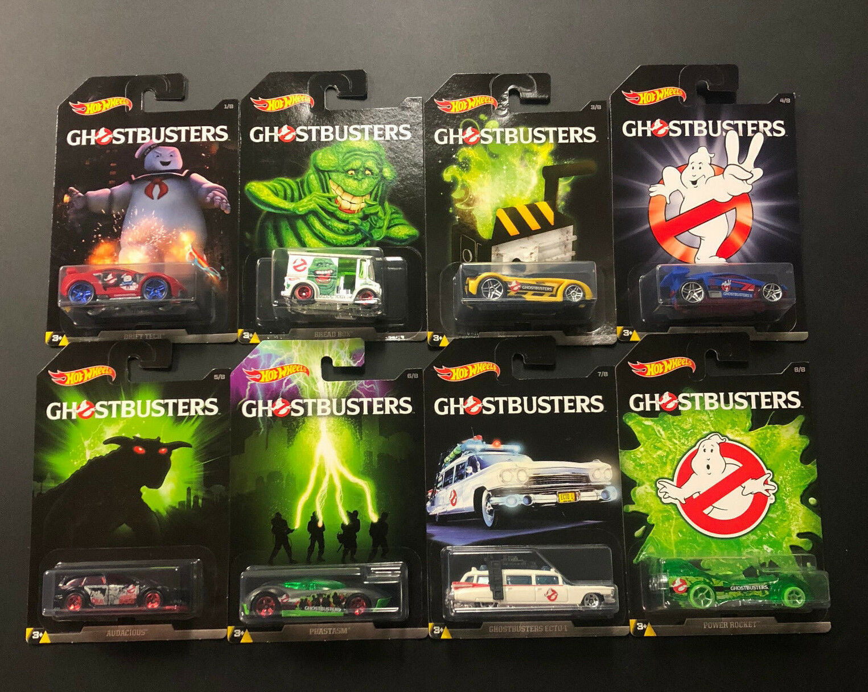 HOTWHEELS - Movie TV Diecast Car - GHOSTBUSTERS - Complete Set of 8