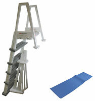 Confer 6000b Heavy Duty Aboveground In-pool Swimming Pool Ladder 48-54 + Pad on sale