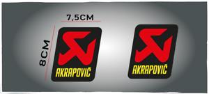 2-Adesivi-Adesivo-Sticker-Pegatina-AKRAPOVIC-SUZUKI-KTM-EXAUST-moto-offroad