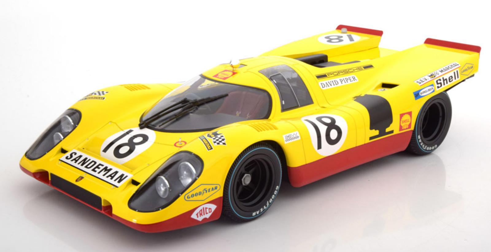 MINICHAMPS Porsche 917K Shell 24h LeMans 1970 Piper/Van Lennep  18 HUGE CAR 1:12