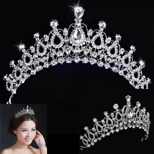 Crystal Rhinestone Hair Headband Crown Comb Bridal Wedding Tiara Prom Pageant