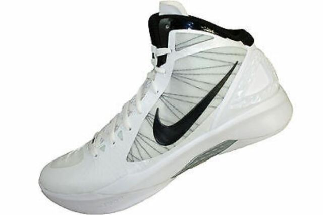 reputable site 928ce 57528 NIKE ZOOM HYPERDUNK 2011 TB (MENS) WHITE BLACK-METALLIC SILVER 13
