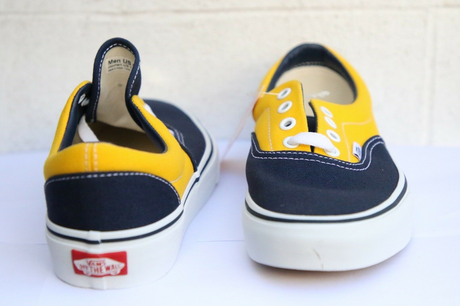 Vans Era Golden Blau Coast Dark Blau Golden Yellow Classic Dpwtr/Trd Trainers UK 5 EU 38 77d944