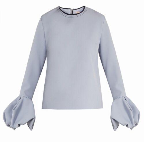 Neuf Uk Robe Bleu Poudre Chemisier Haut Manchette Puff Clair Arlo 14 Roksanda BA1xBqa7