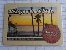 Beer Coaster ~ Karl Strauss Brewing Co ~ San Diego CALIF. ~ Tourmaline Surf Park