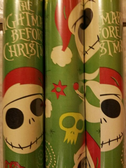 3 Rolls Disney's The Nightmare Before Christmas Gift Wrap ...