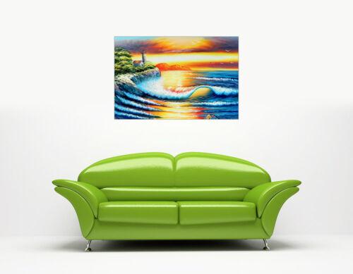 LIGHT HOUSE SUNSET CANVAS WALL ART PRINTS PICTURES PHOTO HOME DECOR MODERN ART