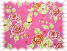 Hanni Popeline Baumwolle Blumen rosa 50 cm Webware Stenzo Stoff Stoffe nähen