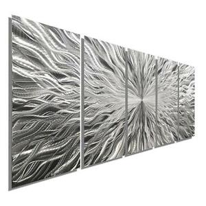 Large-Metal-Wall-Art-Modern-Abstract-Etched-Silver-Hanging-Painting-Jon-Allen