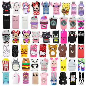 For-iPhone-4-4S-5-5S-Case-Cover-3D-Cute-Cartoon-Animals-Soft-Silicone-Back-Skin