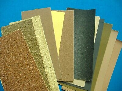 LOT OF SIX PIECE 1//3 SHEET NORTON ASST GRIT SANDPAPER 3 2//3 x 9/""